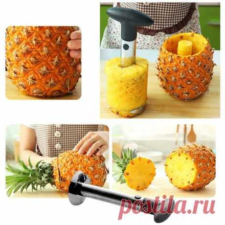 El acero inoxidable las Frutas la Piña la Cuchilla el Cuchillo el taladro Slicer fácilmente la Cocina el instrumento | Sammydress.com