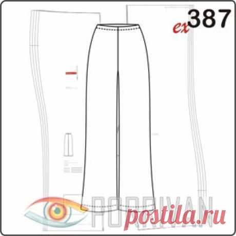 Выкройка брюк на резинке - Porrivan