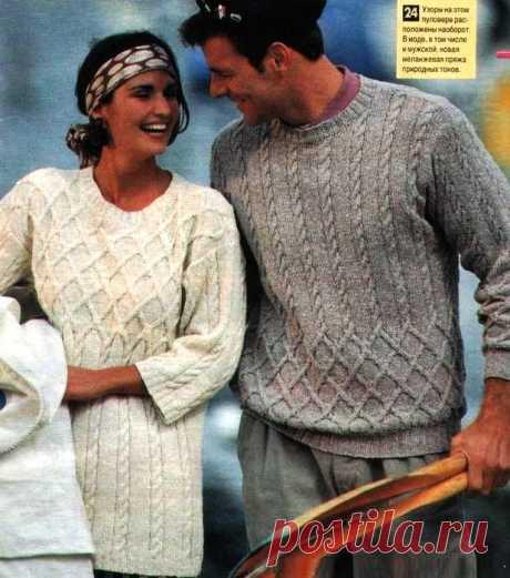 Пуловеры. Спицы.