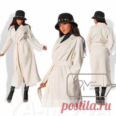 Стильное кашемировое пальто миди
