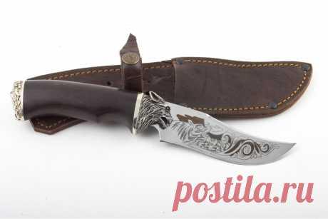 Купить кованый нож Грибник из стали Х12МФ. Ворсма.