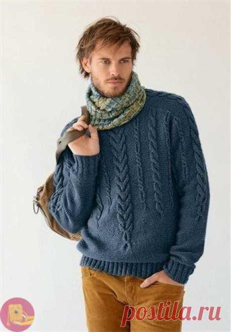 Превосходный уютный свитер для любимого мужчины