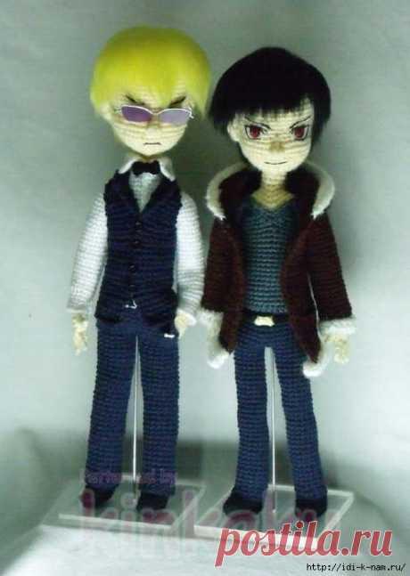 """основа вязаной куклы """"аниме"""""""
