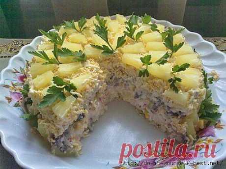 Торт-салат «Чудо-слойка».