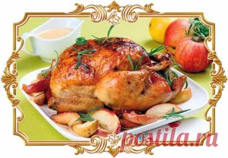 Курица по царски в медово-апельсиновом маринаде на фруктовой подушке (рецепт к Новому году, и не только)  Изумительно вкусная и не совсем обычная курица, запеченная в духовке. Курица в медово-апельсиновом маринаде, запеченная в рукаве в духовке, обязательно должна быть на каждом праздничном новогоднем столе. Курица получается мягкая и сочная с приятными апельсиновыми нотками, а карамелизированные яблоки и апельсины отлично сочетаются с нежным куриным мясом. Показать полностью…