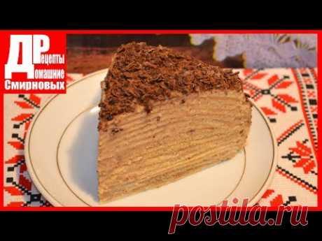 Pancake cake with a custard. Detailed recipe! Cake as Napoleon!