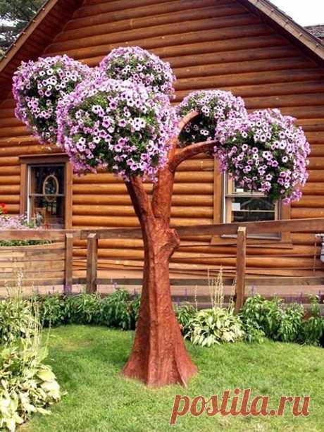 Деревья из петуний