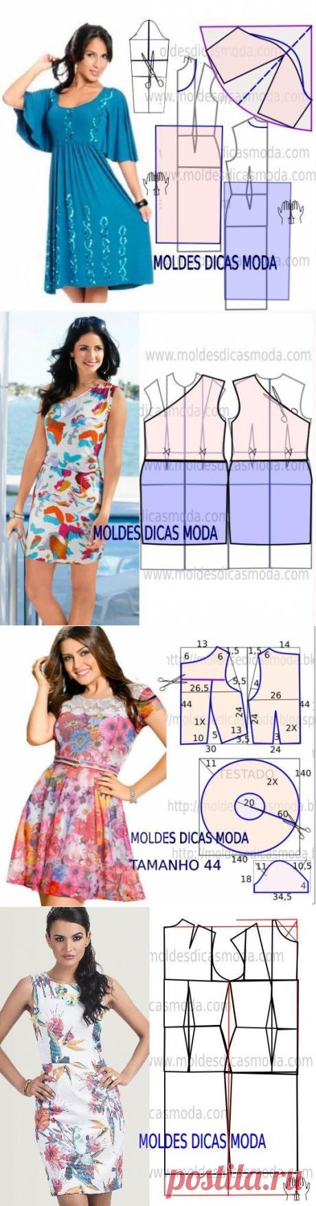 Los patrones de los vestidos.