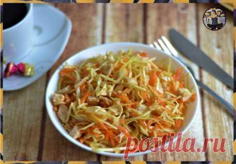 Белковый салат на ужин из 3 ингредиентов для похудения и сушки тела | Записки немолодого ЗОЖника | Яндекс Дзен