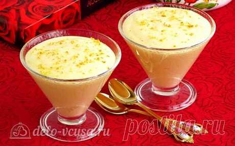 Апельсиновый крем-мусс, пошаговый рецепт с фото