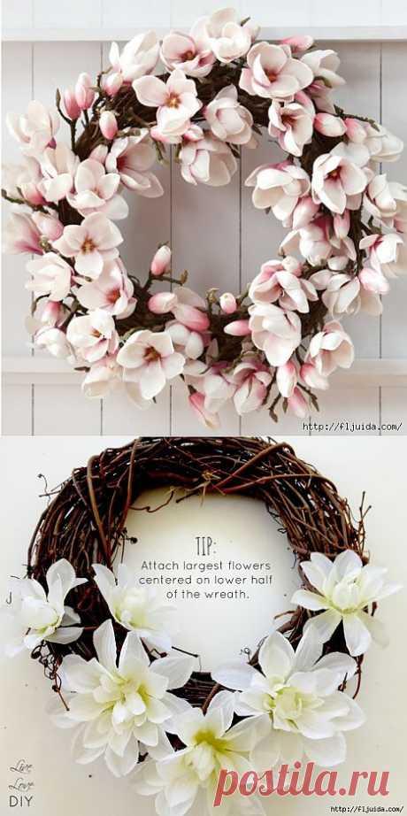 1 часть. Самодельные цветы для интерьера..