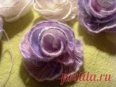 Вязаная роза крючком — просто невесомая   razpetelka.ru