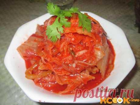 Кимчи из пекинской капусты – рецепт с фото приготовления по-корейски Кимчи из пекинской капусты – это вкуснейший рецепт приготовления маринованных овощей с добавлением острых специй и корейских пряностей.