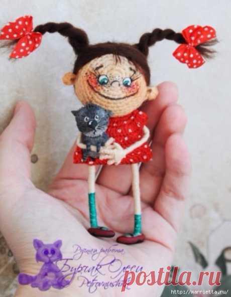 Куколка Веснянка амигуруми. Вязание крючком