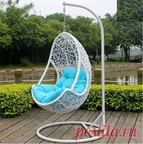"""Купить висячие кресло """"Стефания"""" из искусственного ротанга"""
