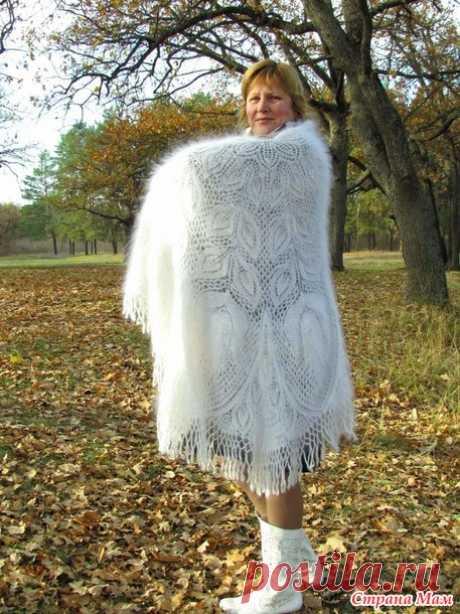 шаль лира, пуховая + схема - Вязание - Страна Мам