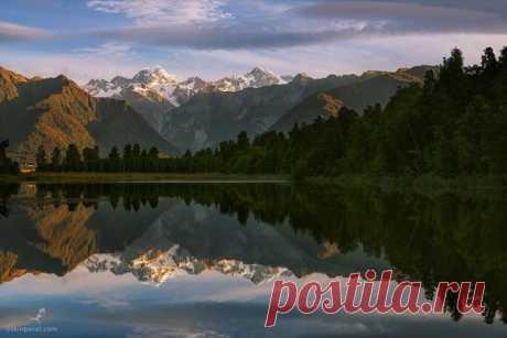Озеро Мэтсон, Новая Зеландия. Автор фото — Павел Оськин: nat-geo.ru/photo/user/164310/