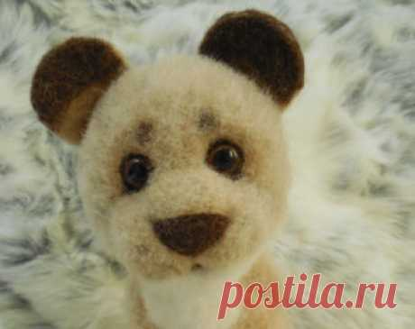 Lion Львёнок ручной работы, выполнен из натуральной шерсти