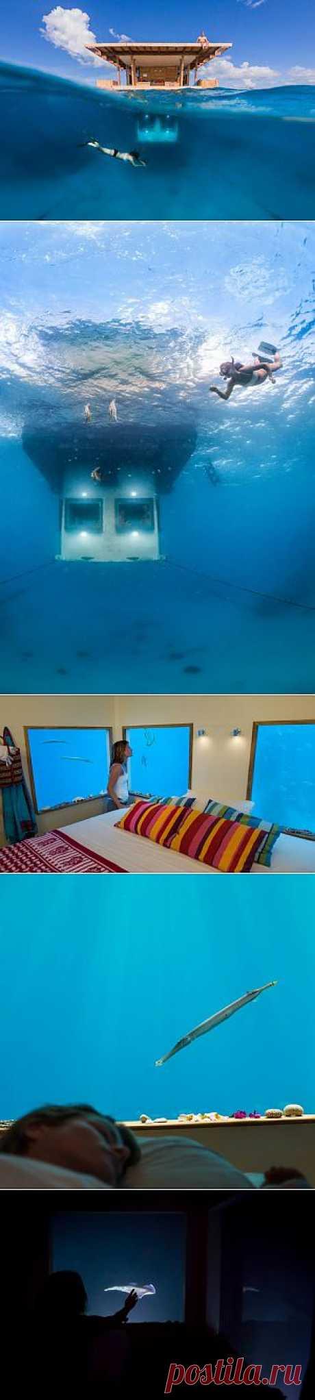 Мультиуровневый плавающий отель Manta Resort