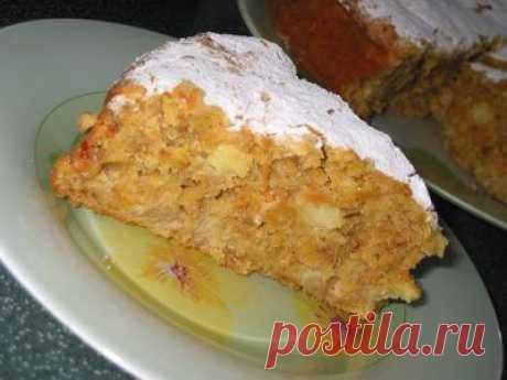 Морковно-овсяный пирог (вариант рецепта. Удачный)