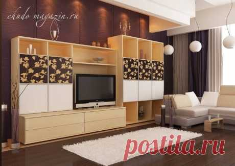 Открытая стенка для зала под телевизор: фото, дизайн, стиль, замер, доставка
