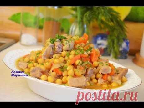 Для тех кто любит мясо и горох! Очень вкусно и просто! Густой суп с нутом