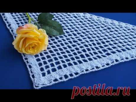 Самая простая шаль крючком для начинающих 2.  ЛЕГКО и БЫСТРО. Бактус  Урок 286 Simple crochet shawl