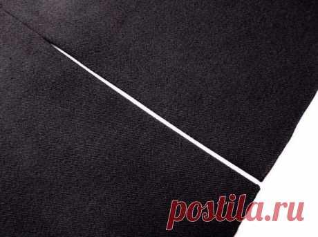 Техника шитья: шлица с подкладкой