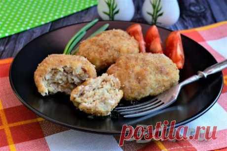 Котлеты из фарша свинины и курицы в духовке - пошаговый фоторецепт