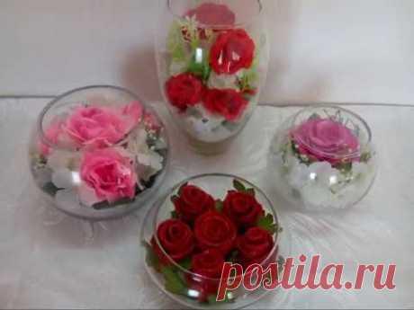 DIY// Розы в стекле!Мастер класс