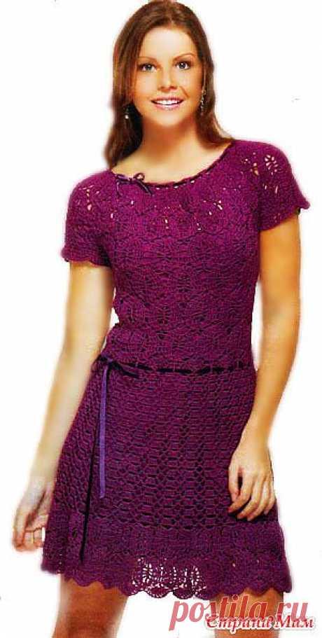 """Вязаное платье Lilac: Дневник группы """"Все в ажуре... (вязание крючком)"""" - Страна Мам"""
