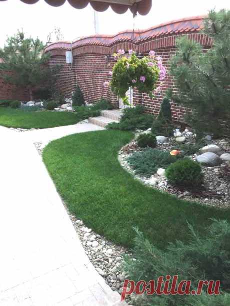 наши работы ландшафтный дизайн озеленение благойстройство территорий уход за садом рулонный газон освещение участка