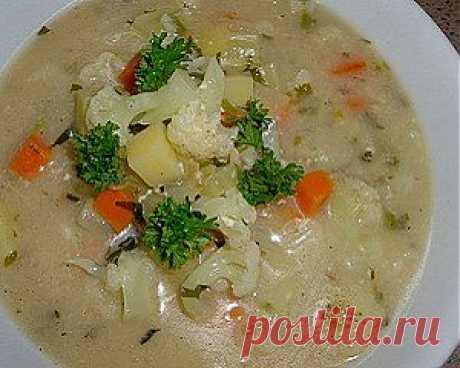 Суп из цветной капусты - вкусно и полезно.