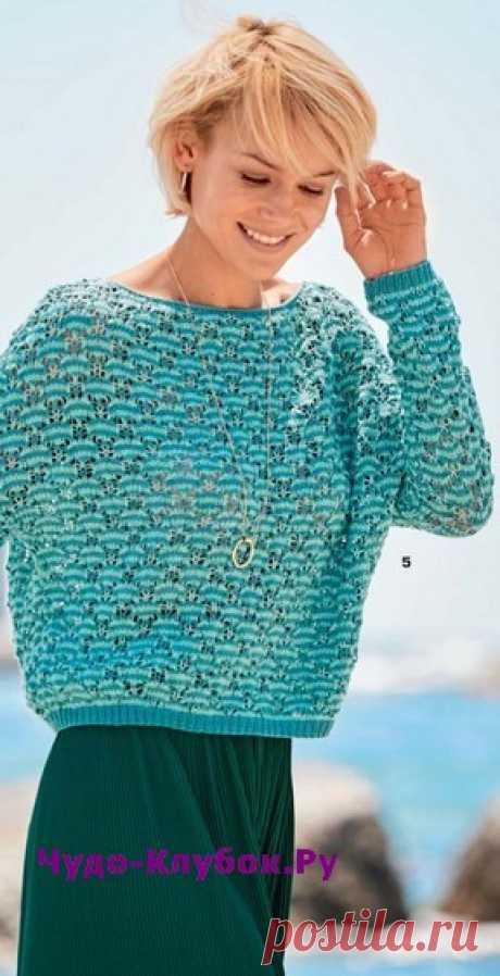 Пуловер оверсайз в полоску вязаный спицами 1868 | ✺❁сайт ЧУДО-клубок ❣ ❂✺Этот объемный вязаный пуловер сразу восхитил нас простотой и гармоничностью. Он связан ажурным узором из тонкого хлопка двух цветов, образующих ❂ ►►➤6 000 ✿моделей вязания ❣❣❣ 70 000 узоров►►Заходите❣❣ %
