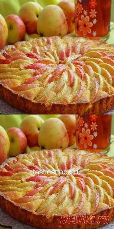 """Пирог """"Яблоки на снегу"""" с очень нежной начинкой, просто тает во рту!"""