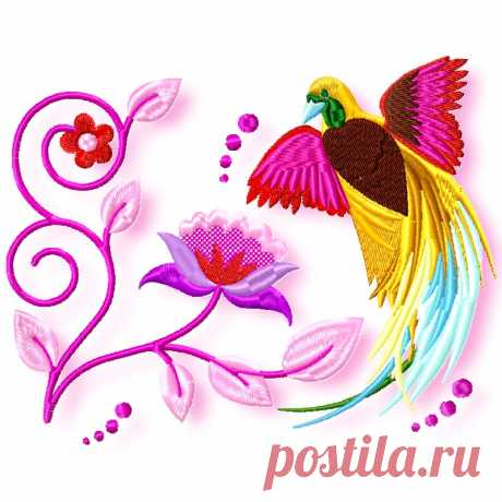 Delicate Birds Machine Embroidery ⋆ Pamela's Embroidery