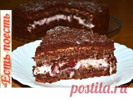 Постный шоколадно-вишневый торт , но никто не догадается.