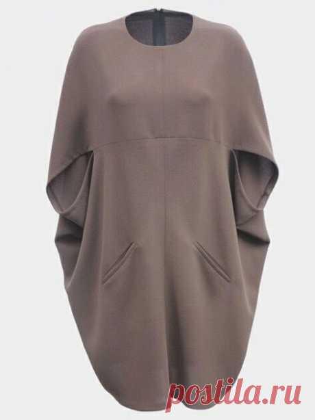 Платье кокон Модная одежда и дизайн интерьера своими руками