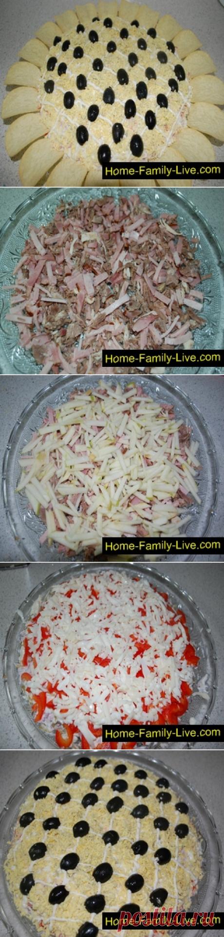 Салат Подсолнух/Сайт с пошаговыми рецептами с фото для тех кто любит готовить
