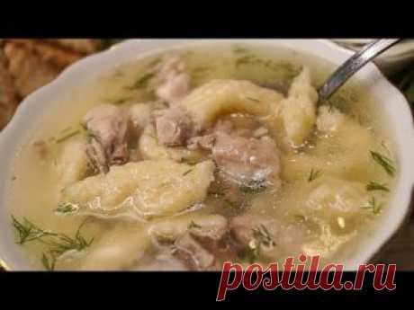 Суп с клецками на курином бульоне. В моей семье его любят все. Готовится супчик просто и быстро, если куриный бульон у вас уже есть, то на все приготовление ...