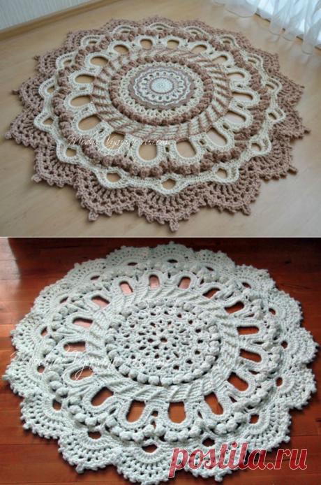"Потрясающий ковер по схеме салфетки ""Splendid"" - Crochet.Modnoe Vyazanie ru.rom"
