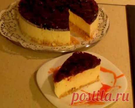 Творожно йогуртовый торт без выпечки -пошаговый рецепт с фото
