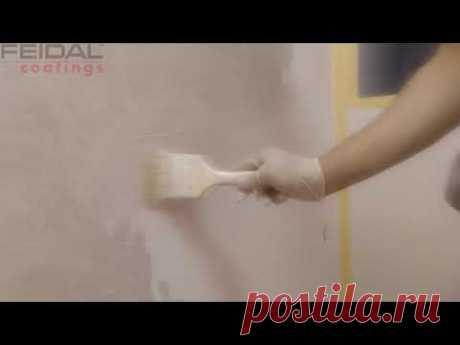 Простой способ нанесения декоративной краски на стены! Мастер класс!