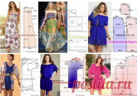 Летние платья — выкройки на любой вкус!