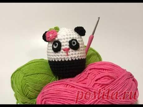 🌀 Como Fazer Uma Ursinha Panda de Amigurumi - YouTube