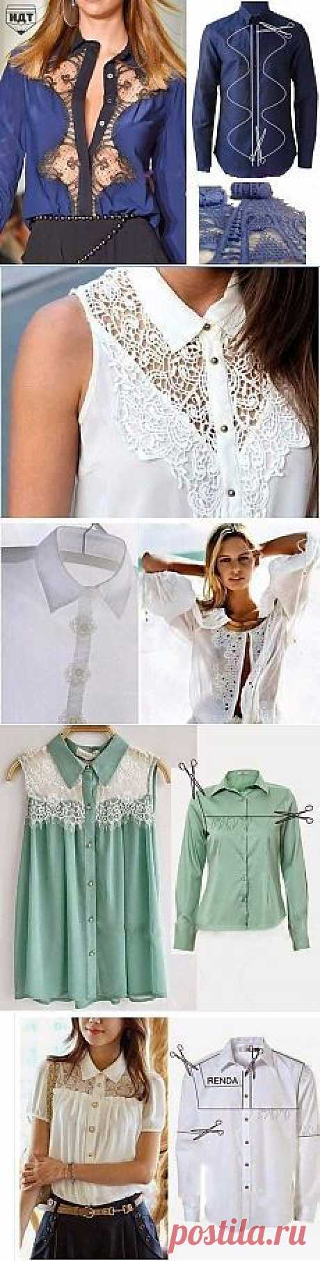 Переделка мужских рубашек в женственные блузы | Умелые ручки | Переделка
