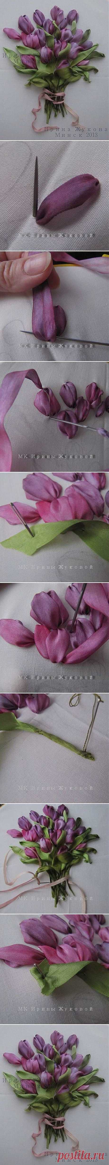 DIY Embroidery Ribbon Flower | Embroidery