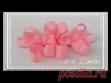 Como Fazer Laço Boutique / How To Make A Boutique Hair Bow By Iris Lima