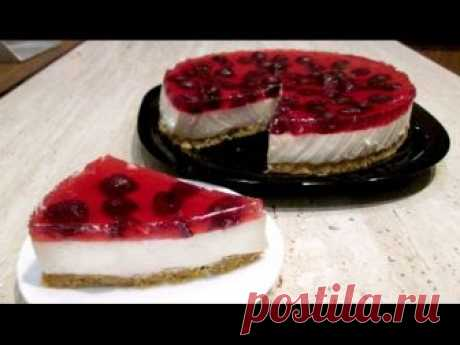 Cheesecake from cottage cheese without pastries. Cake without pastries