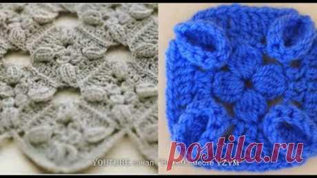 Квадратный мотив с копейками Вязание для начинающих Урок 211 Square crochet motif